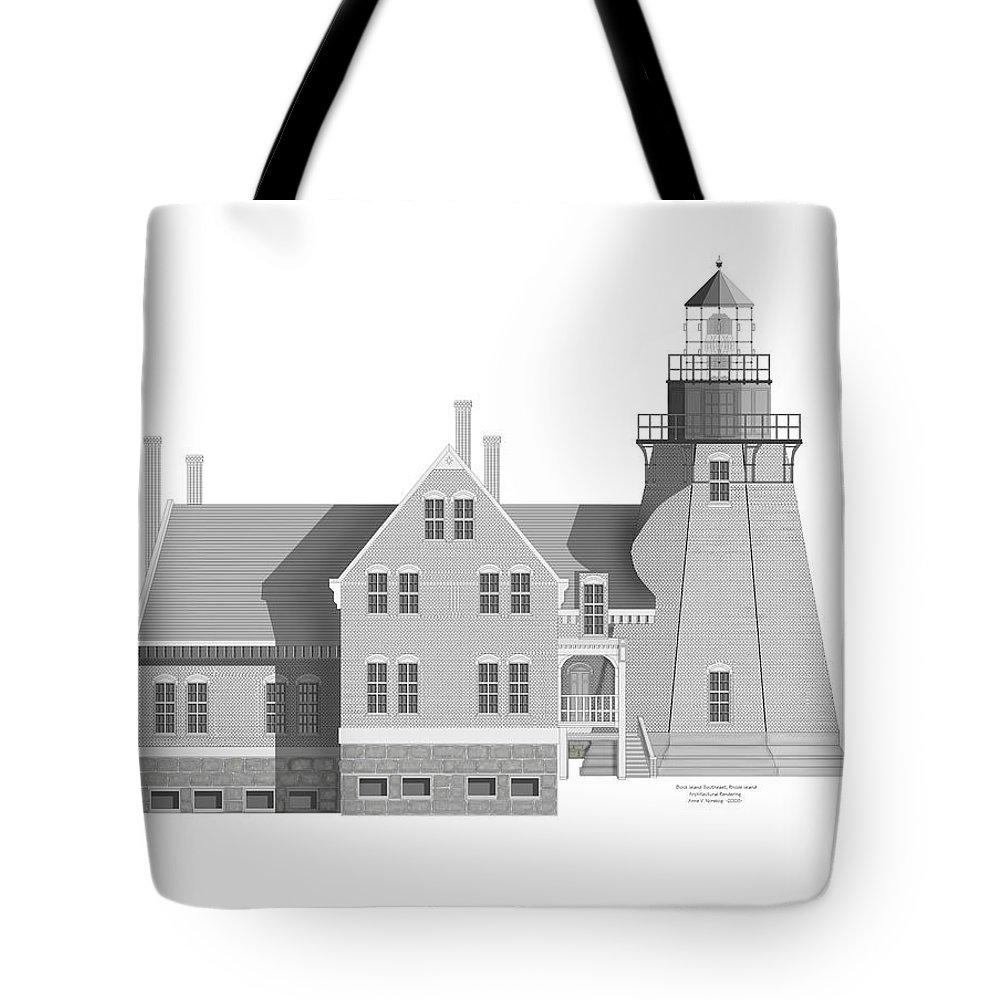 Block Island Rhode Island Tote Bag featuring the painting Block Island South East Rhode Island by Anne Norskog
