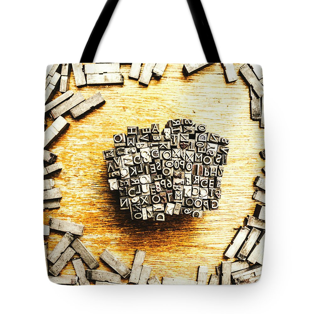 Old Tote Bag featuring the photograph Block Of Communication by Jorgo Photography - Wall Art Gallery