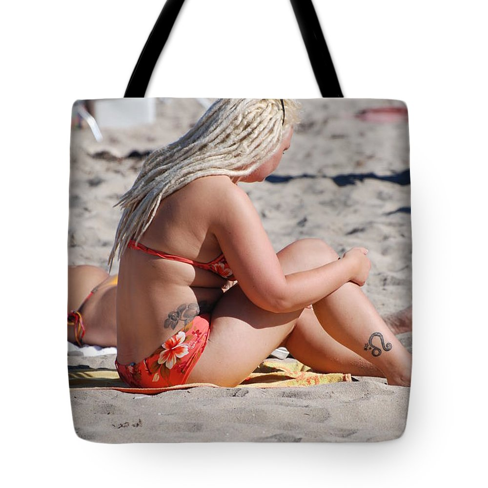 Girls Tote Bag featuring the photograph Blondie Braids by Rob Hans
