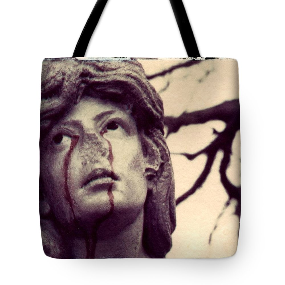 Polaroid Tote Bag featuring the photograph Blood Is The New Black by Jane Linders
