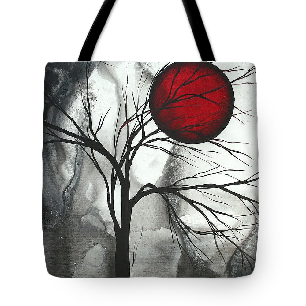 Huge Tote Bag featuring the painting Blood of the Moon 2 by MADART by Megan Duncanson