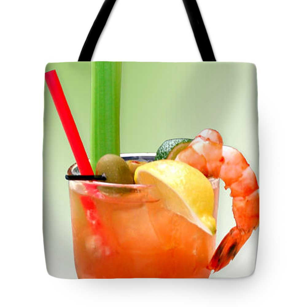 Drinks Tote Bag featuring the photograph Bloody Mary Hand-crafted by Christine Till