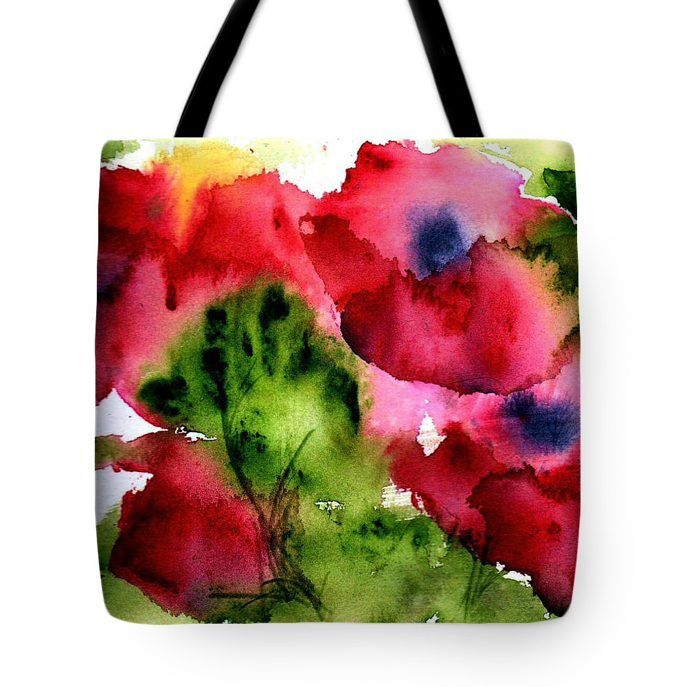 Flower Tote Bag featuring the painting Blooming by Anne Duke