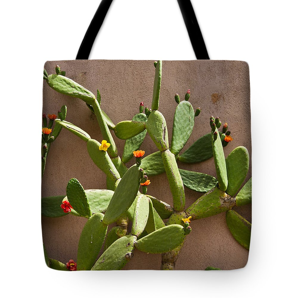 Cactus Tote Bag featuring the photograph Blooming Cactus by Roger Mullenhour