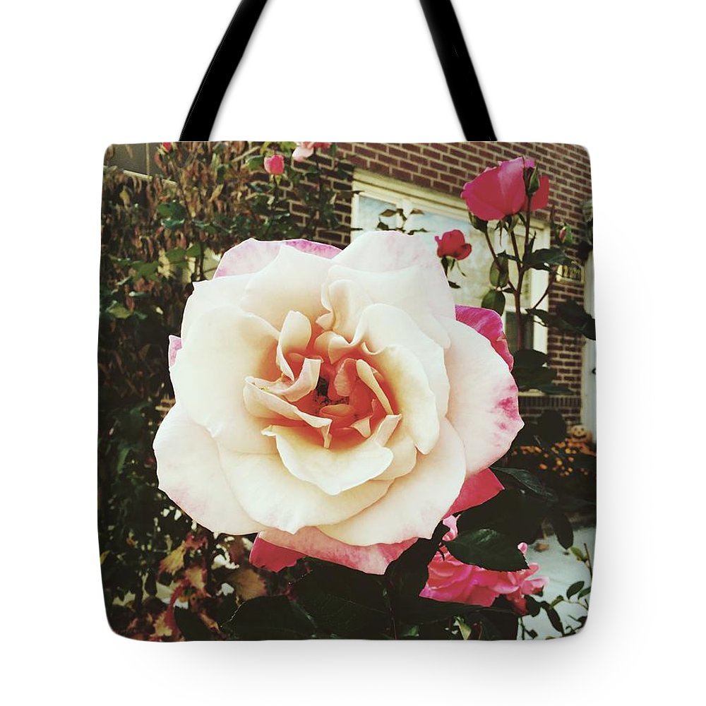 Rose Tote Bag featuring the photograph Blooming Rose by Brianna A