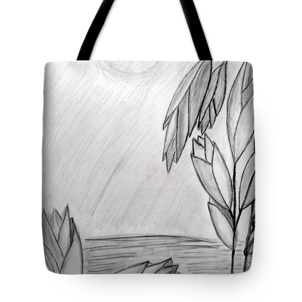 Blooms Tote Bag featuring the drawing Blooms by Janet Ledbetter-Eck