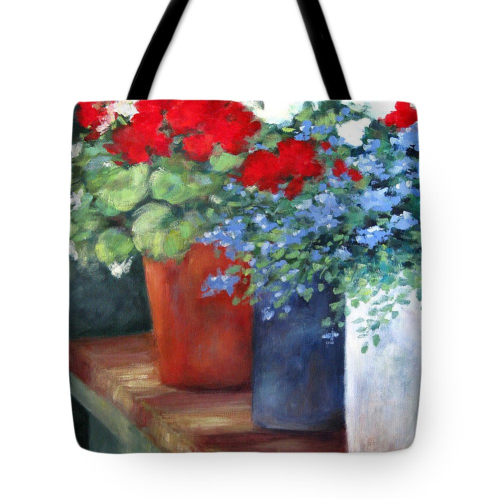 Flowers Tote Bag featuring the painting Blooms Of Joy by Marsha Young