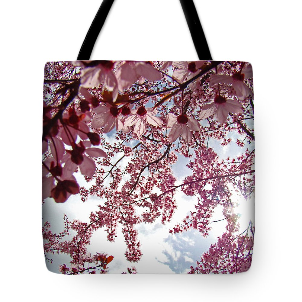 Tree Tote Bag featuring the photograph Blossom Artwork Spring Flowers Art Prints Giclee by Baslee Troutman