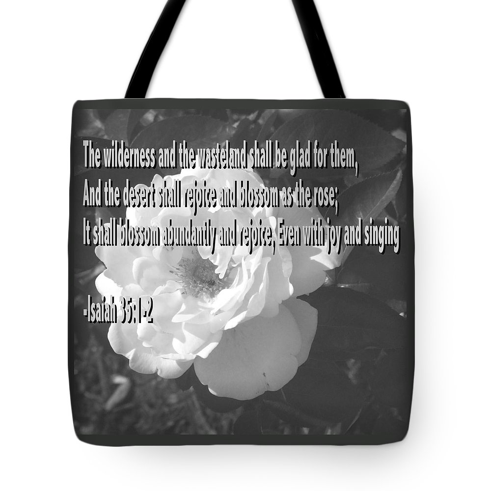 Christian Tote Bag featuring the photograph Blossom As The Rose by Pharris Art