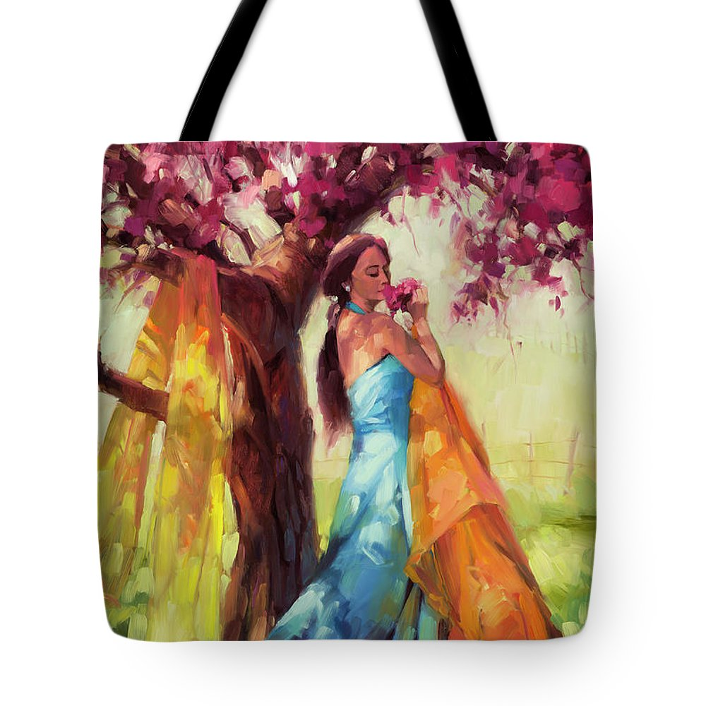 Country Tote Bag featuring the painting Blossom by Steve Henderson