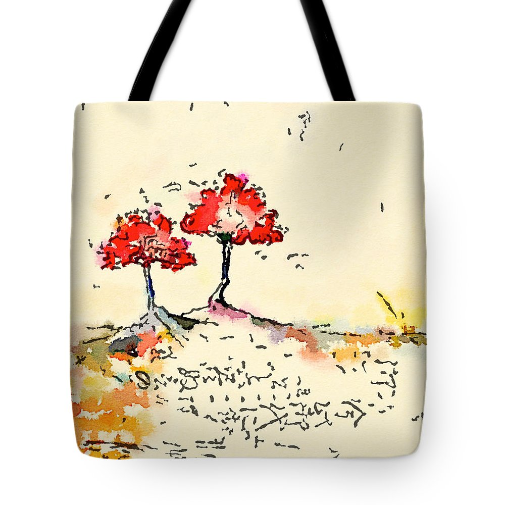 Landscape Tote Bag featuring the painting Blossom by Vanessa Katz