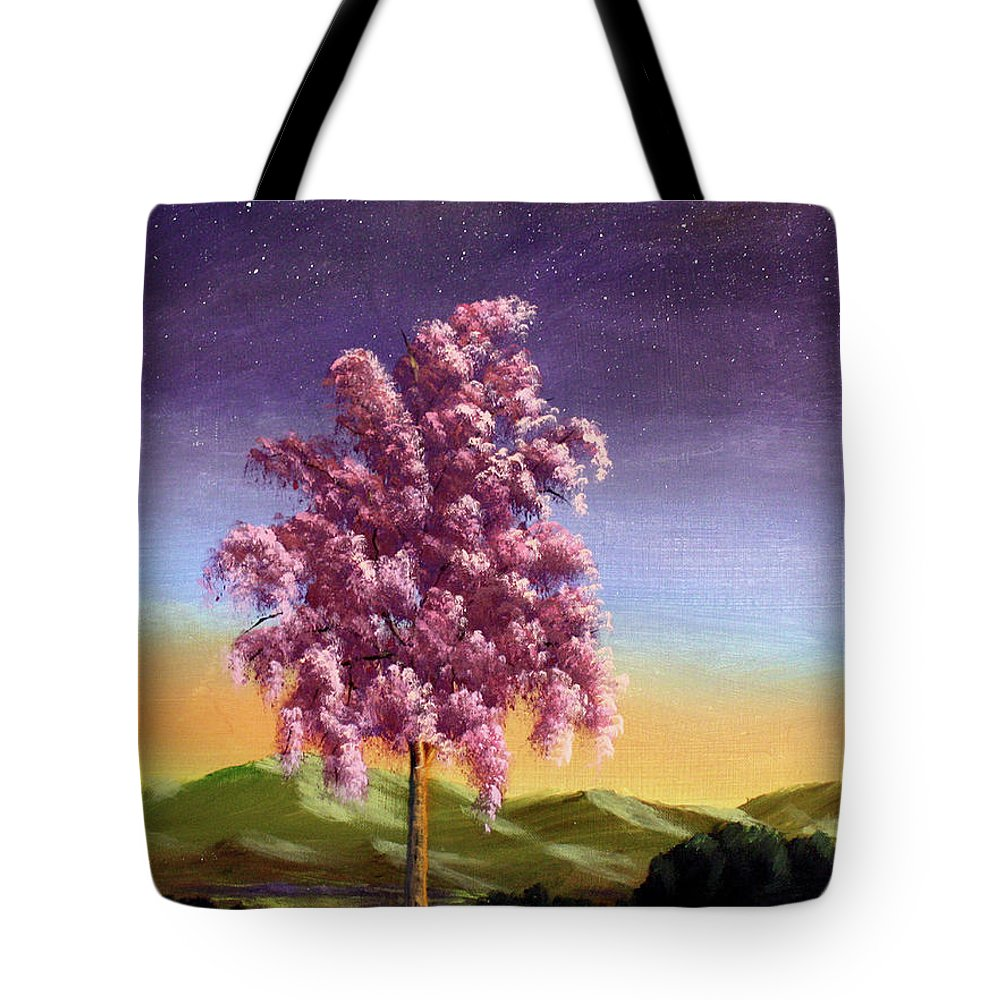 Dawn Blair Tote Bag featuring the painting Blossoming by Dawn Blair