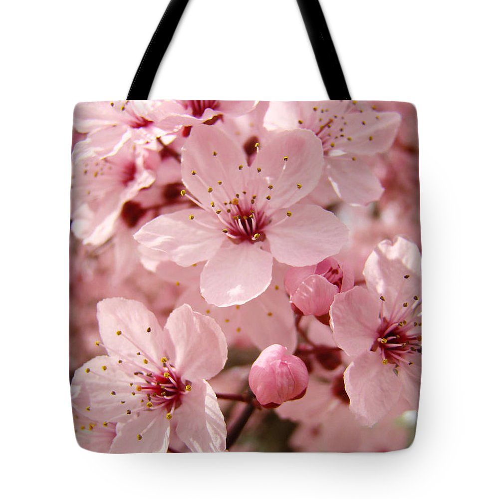Nature Tote Bag featuring the photograph Blossoms Art Prints 63 Pink Blossoms Spring Tree Blossoms by Baslee Troutman