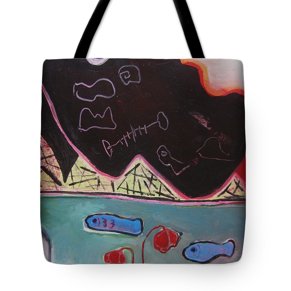Blow Me Down Painting Tote Bag featuring the painting Blow Me Down11 by Seon-Jeong Kim