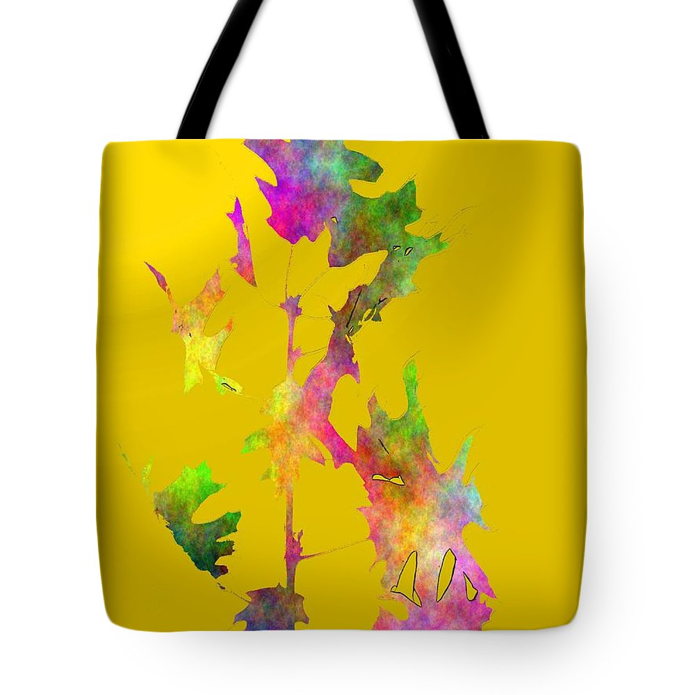 Fall Tote Bag featuring the digital art Blowin In The Wind 5 by Tim Allen