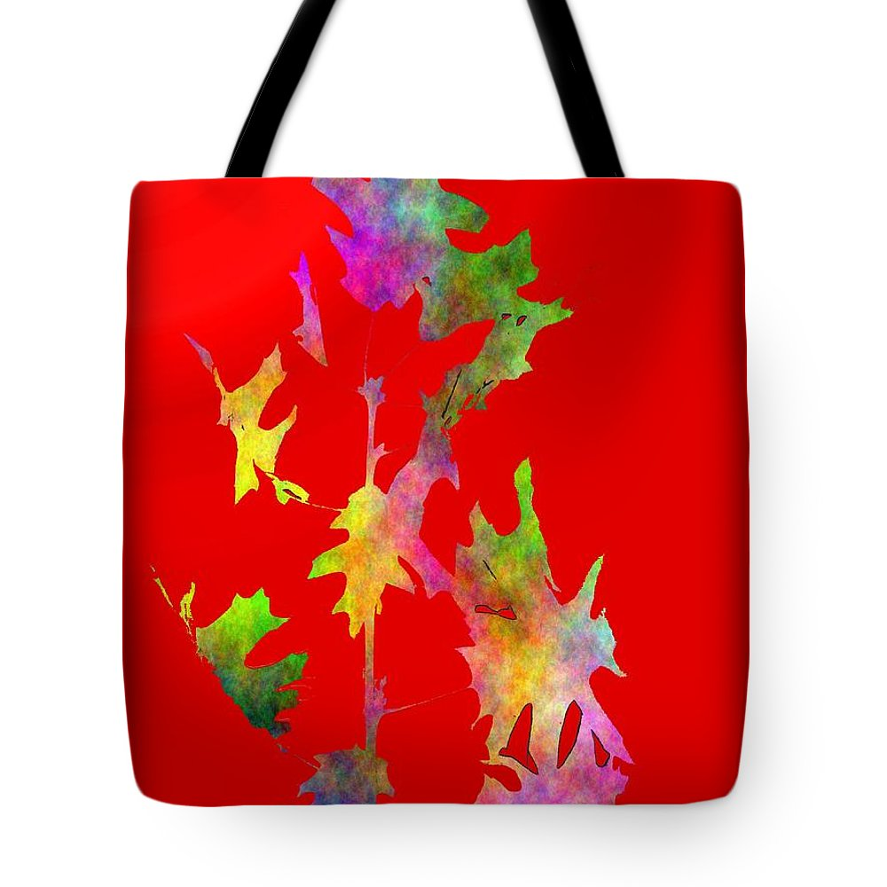 Fall Tote Bag featuring the digital art Blowin In The Wind 6 by Tim Allen