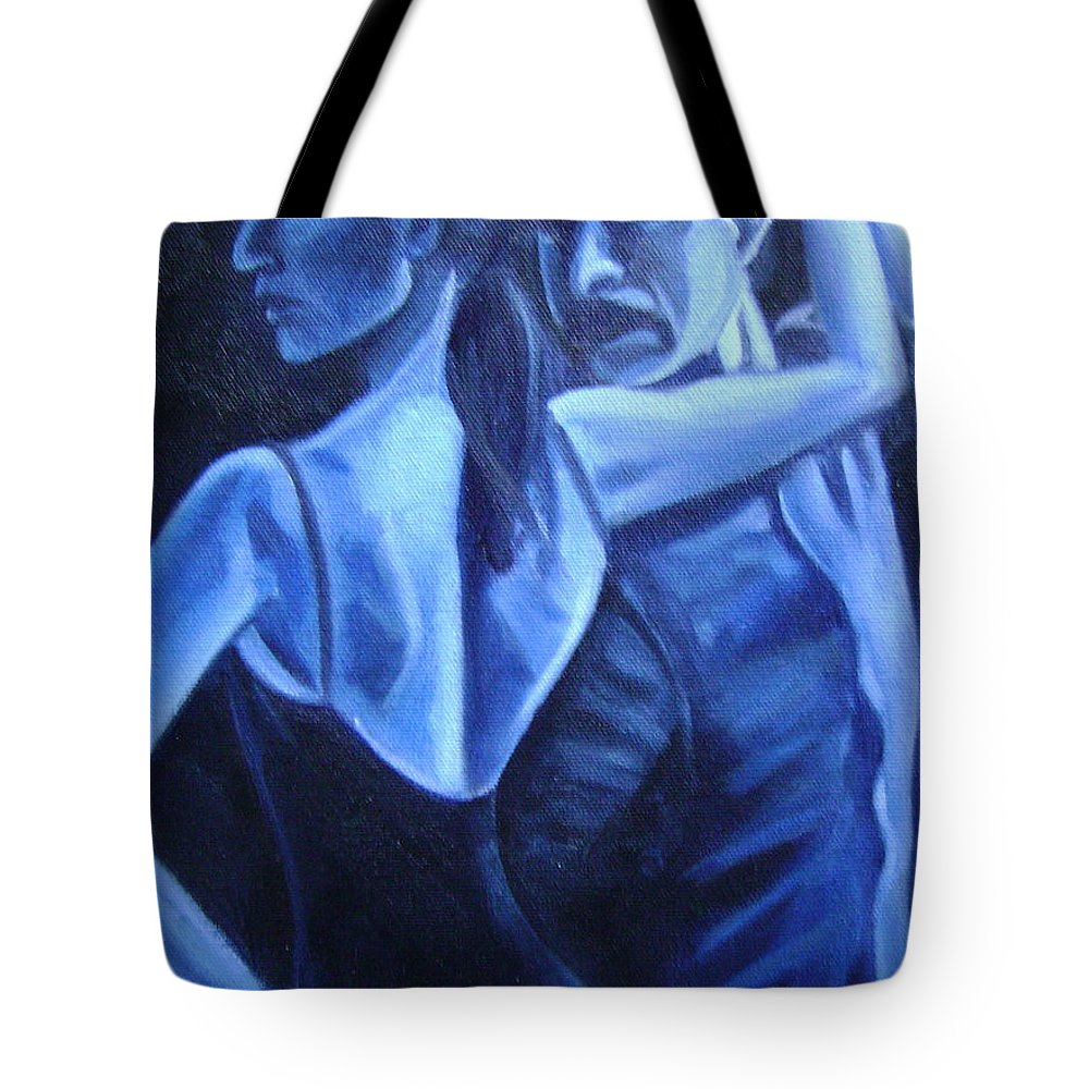 Tote Bag featuring the painting Bludance by Toni Berry