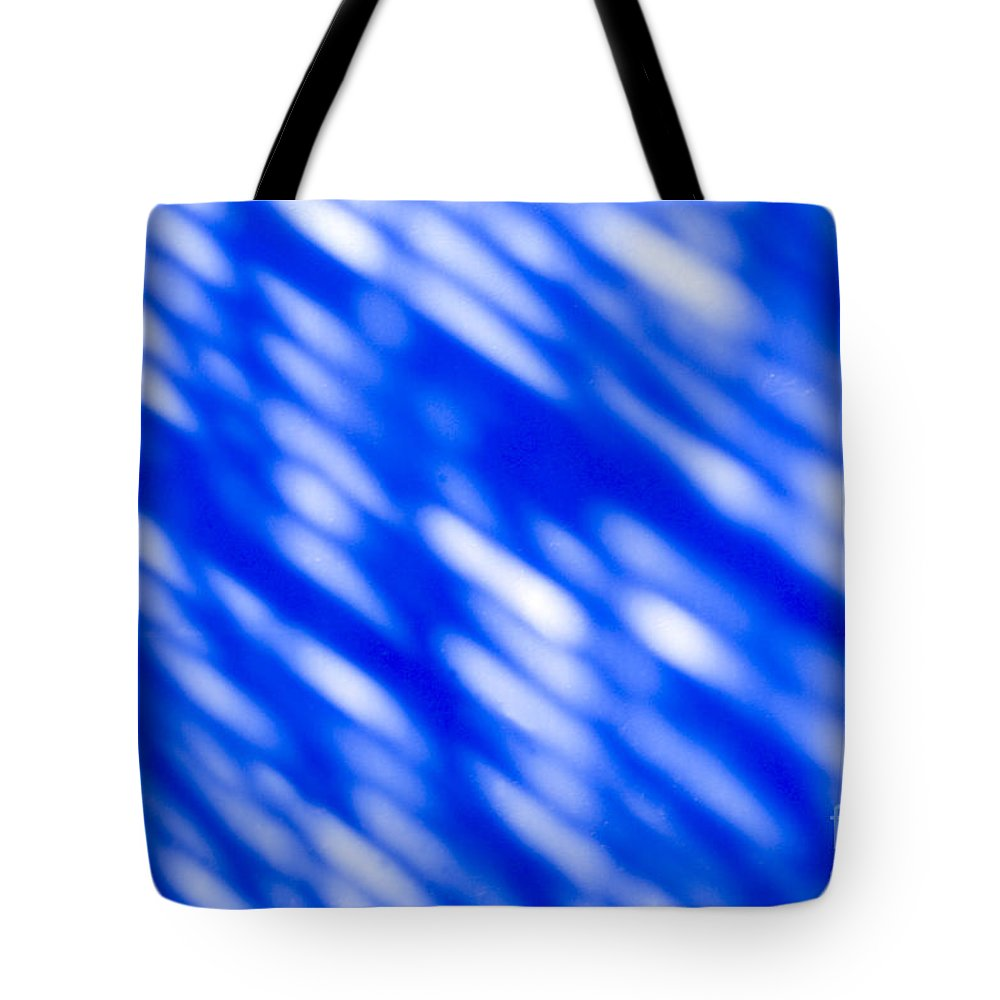 Abstract Tote Bag featuring the photograph Blue Abstract 1 by Tony Cordoza