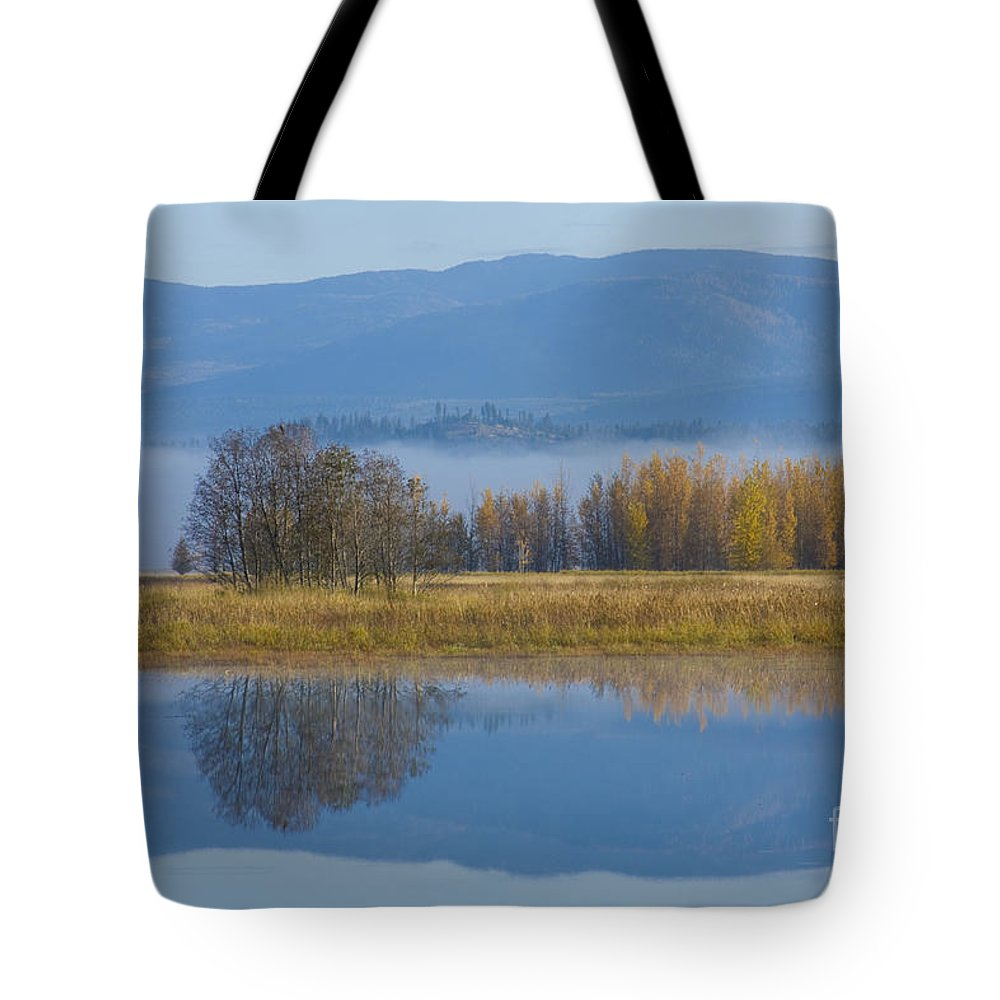 Blue Tote Bag featuring the photograph Blue And Gold by Idaho Scenic Images Linda Lantzy