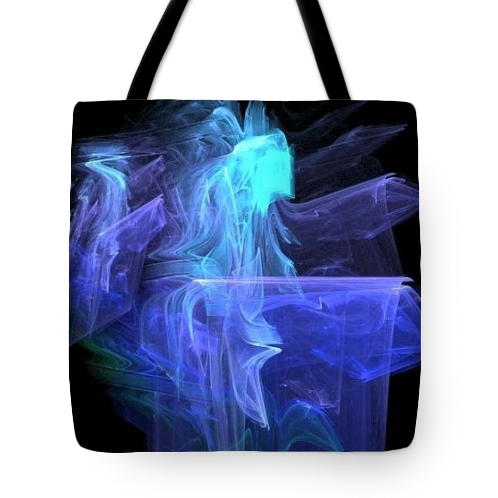 Blue Angel Tote Bag featuring the digital art Blue Angel by Dave Smith