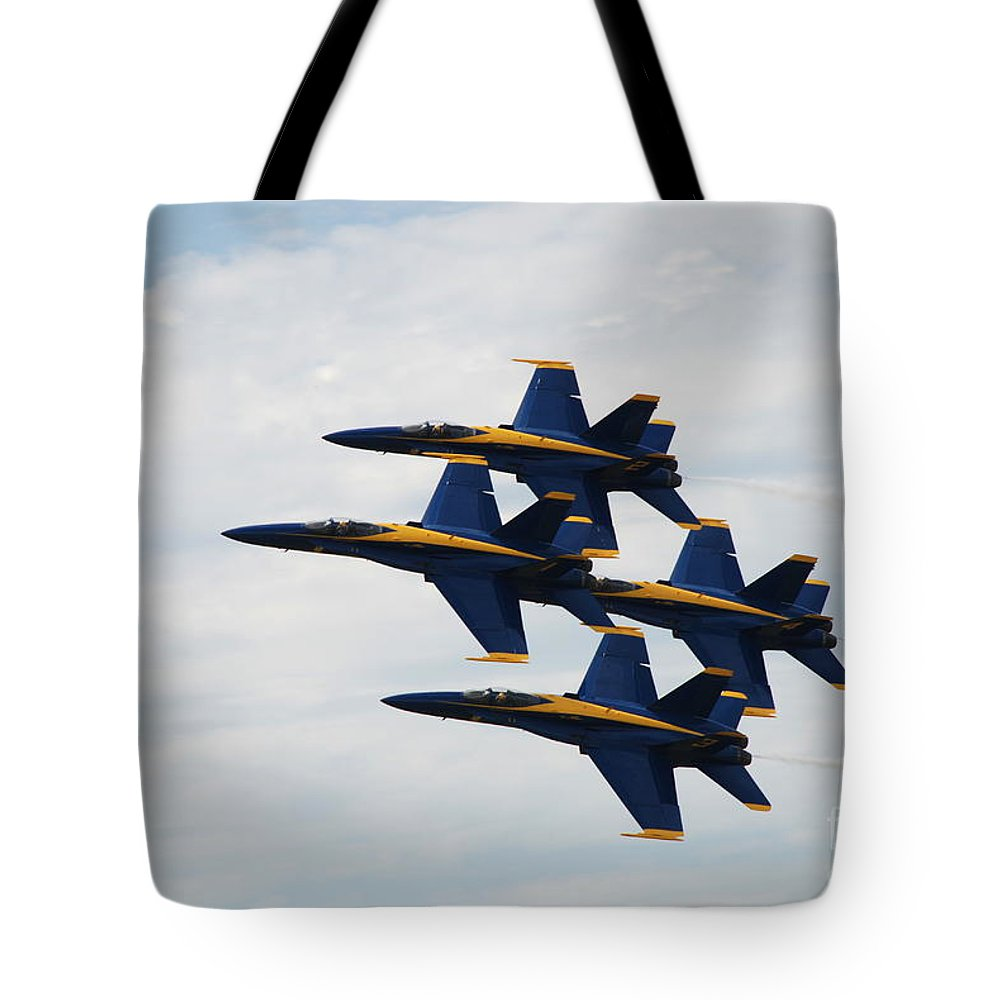 Blue Angels Tote Bag featuring the photograph Blue Angels 1 by Amanda Jones
