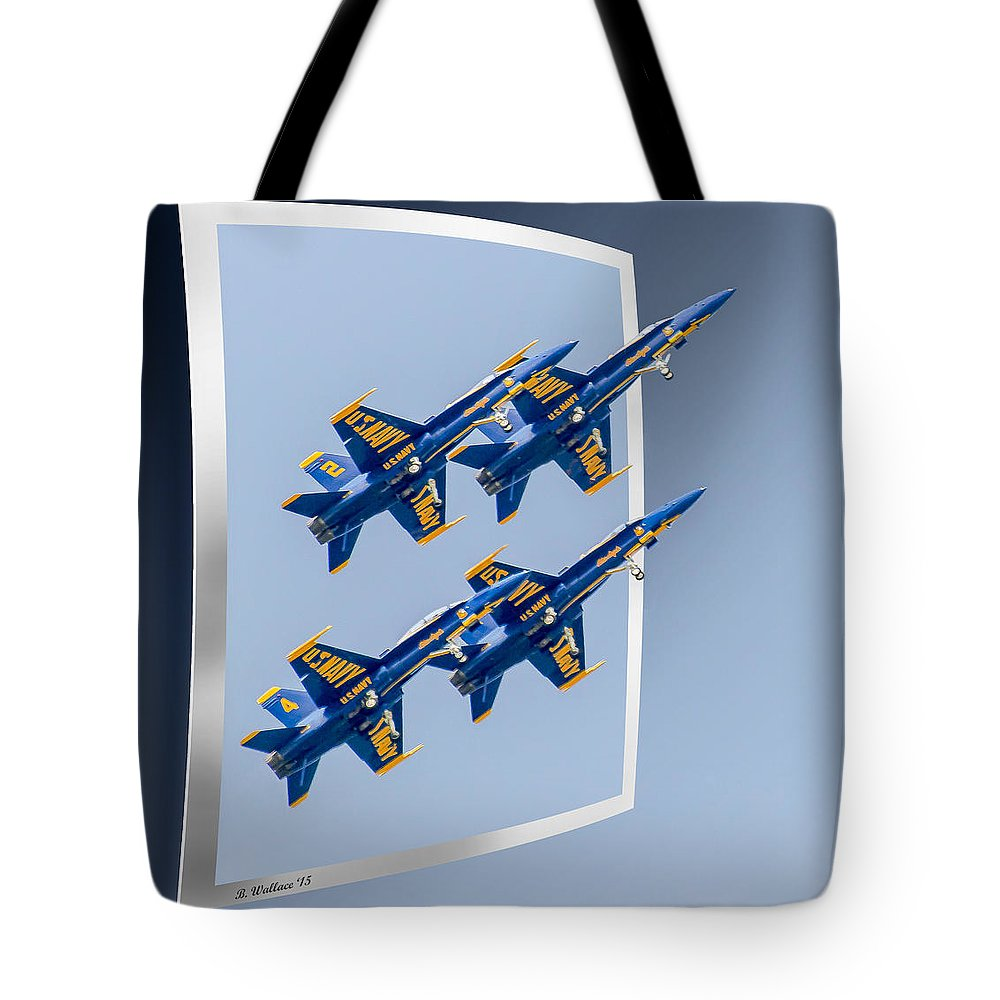 2d Tote Bag featuring the photograph Blue Angels - Oof by Brian Wallace