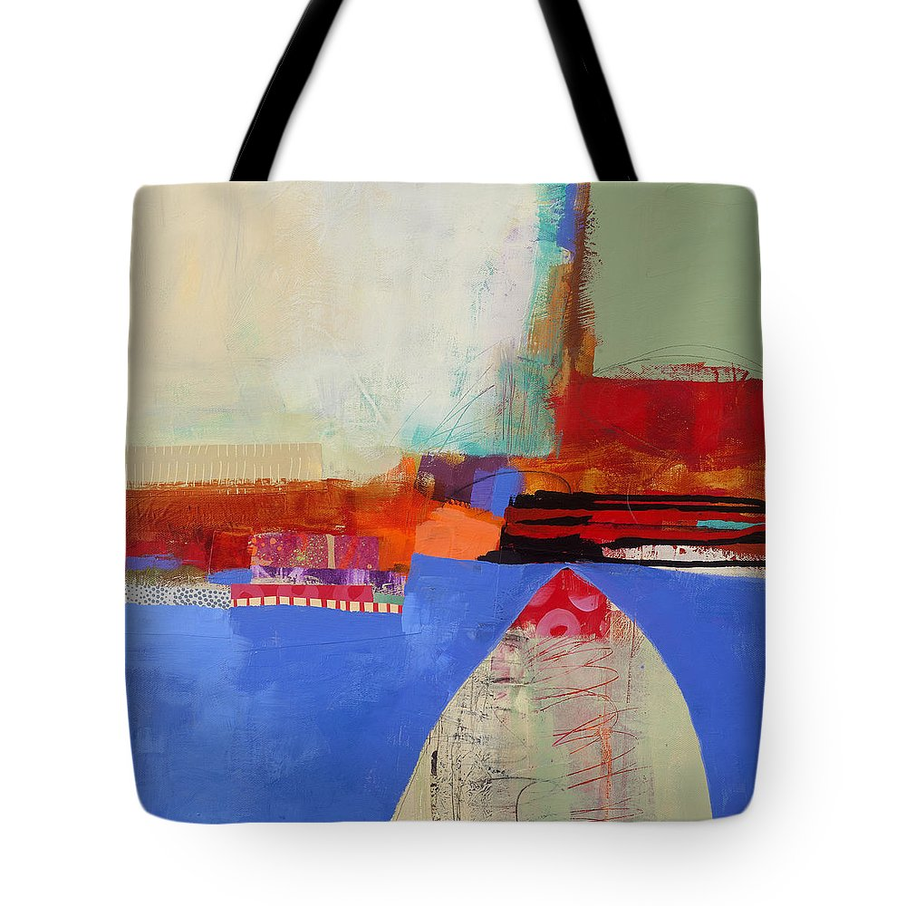 Abstract Art Tote Bag featuring the painting Blue Arch by Jane Davies