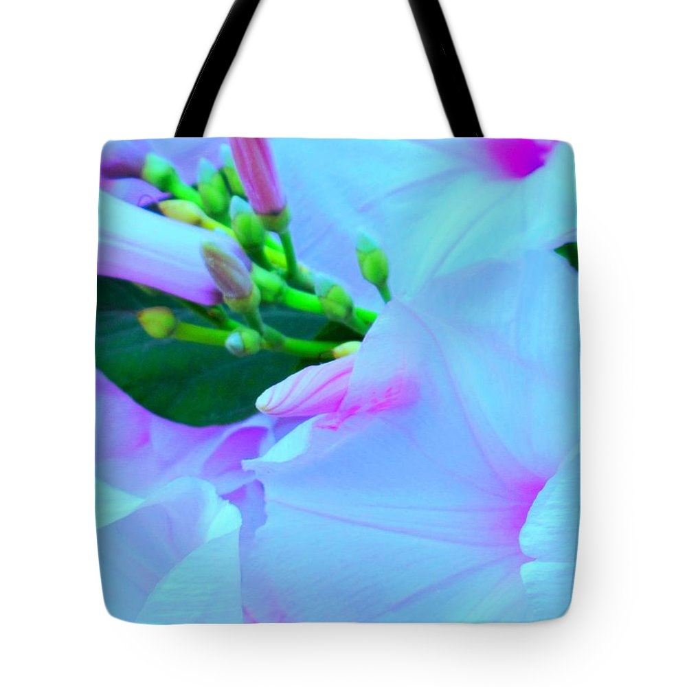 Blue Tote Bag featuring the photograph Blue Beauty by Ian MacDonald