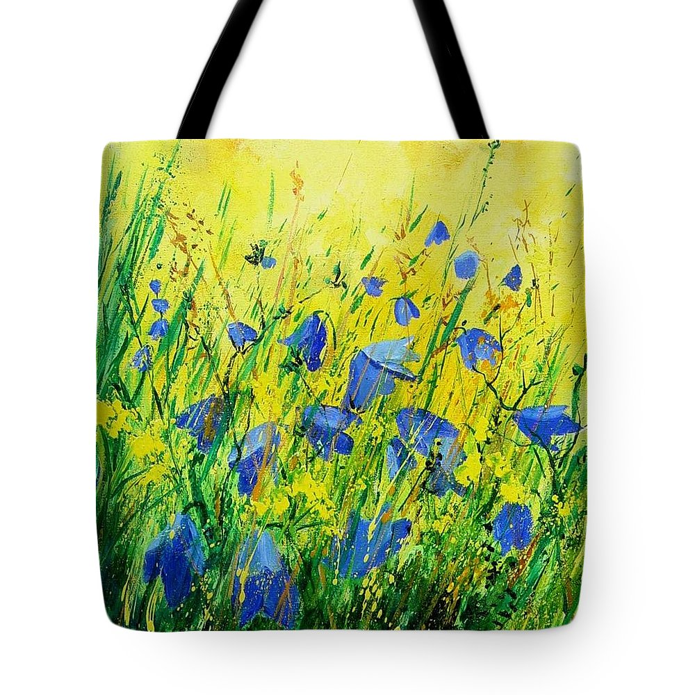 Poppies Tote Bag featuring the painting Blue Bells by Pol Ledent