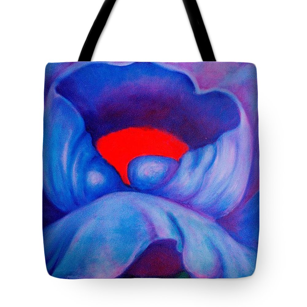 Blue Bloom Tote Bag featuring the painting Blue Bloom by Jordana Sands