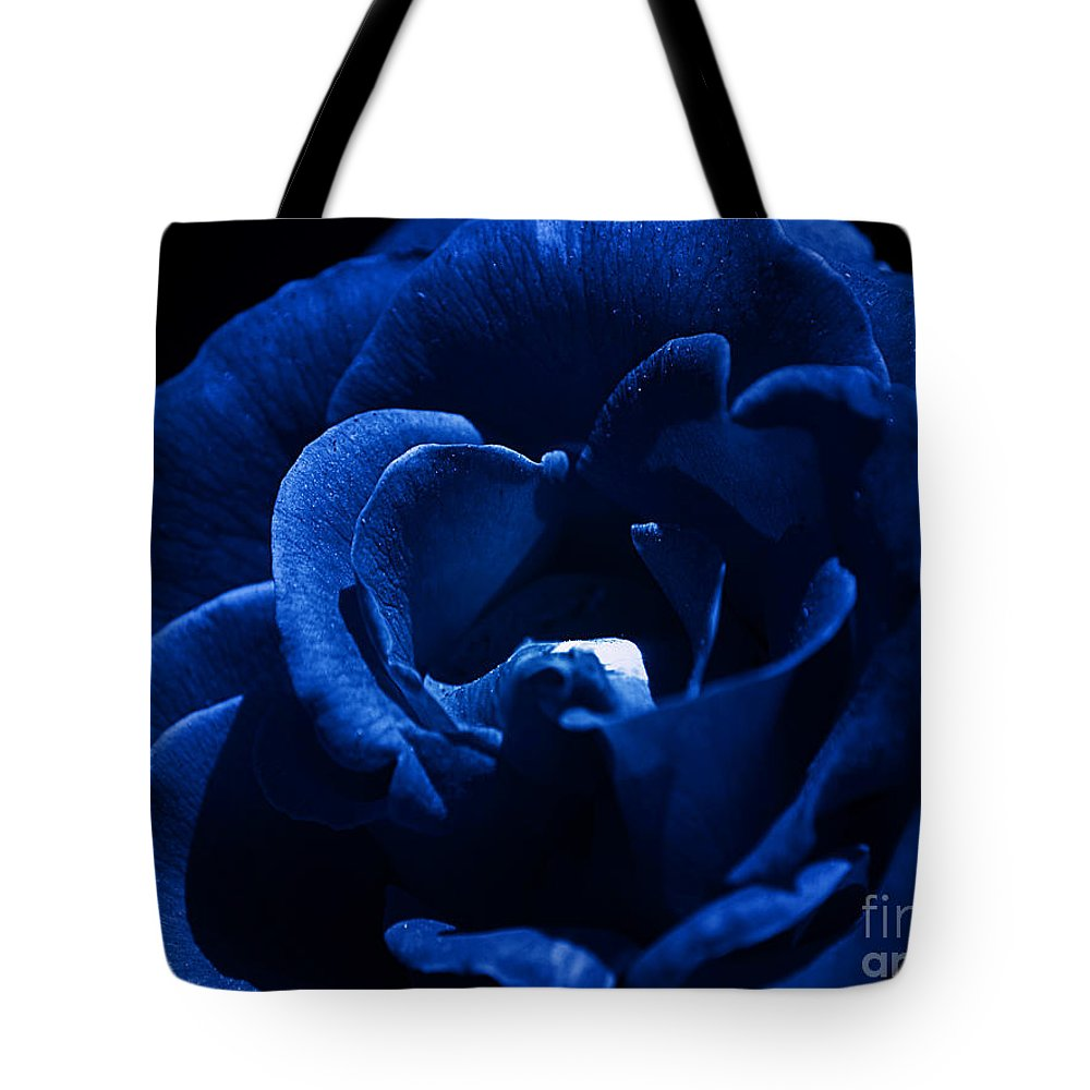 Clay Tote Bag featuring the photograph Blue Blue Rose by Clayton Bruster