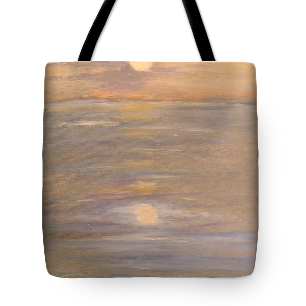 Boat Tote Bag featuring the painting Blue Boat by Patricia Caldwell