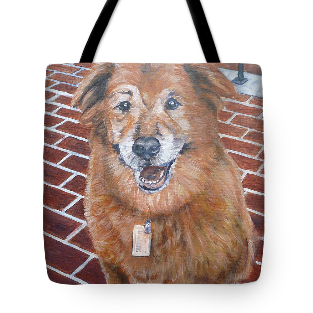 Chow Tote Bag featuring the painting Blue by Bryan Bustard