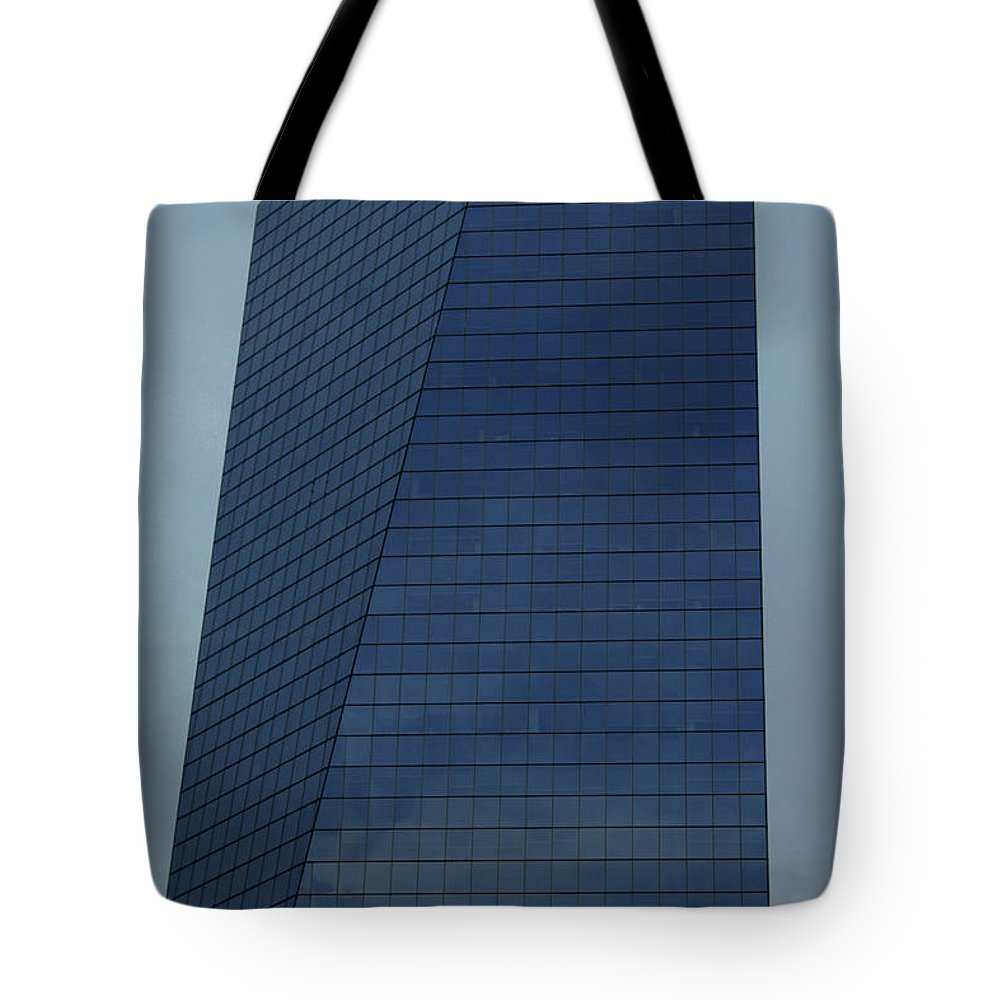 City Tote Bag featuring the photograph Blue Building by Linda Sannuti