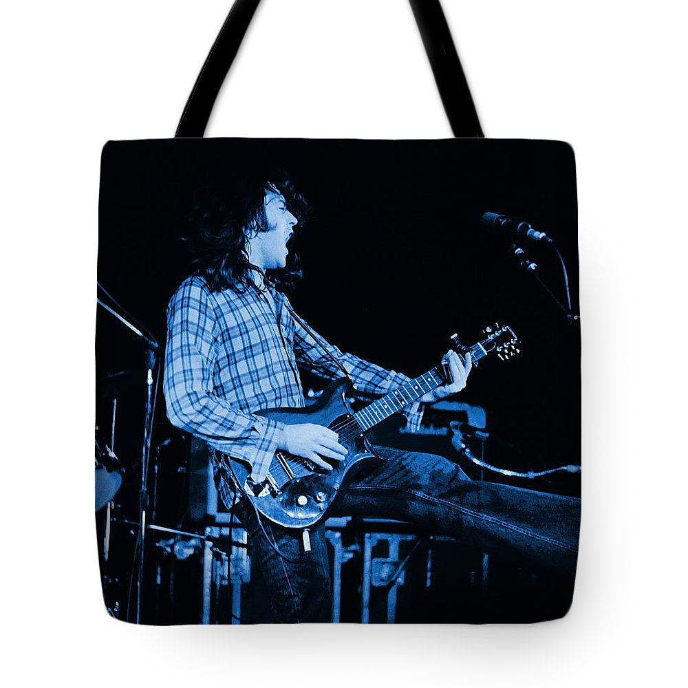 Rock Musicians Tote Bag featuring the photograph Blue Bullfrog Blues by Ben Upham