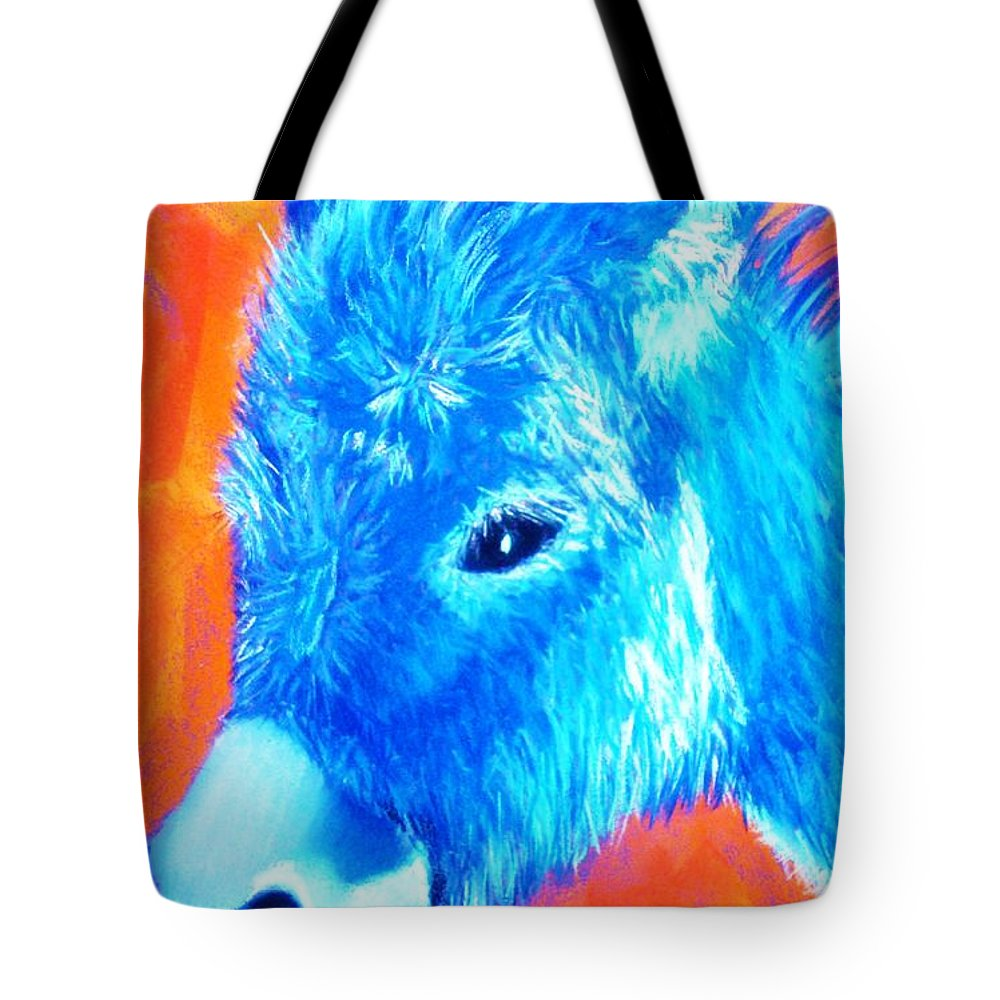 Burro Tote Bag featuring the painting Blue Burrito by Melinda Etzold