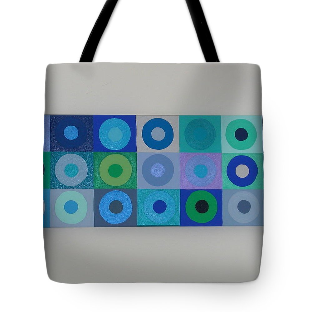 Blue Tote Bag featuring the painting Blue By You by Gay Dallek
