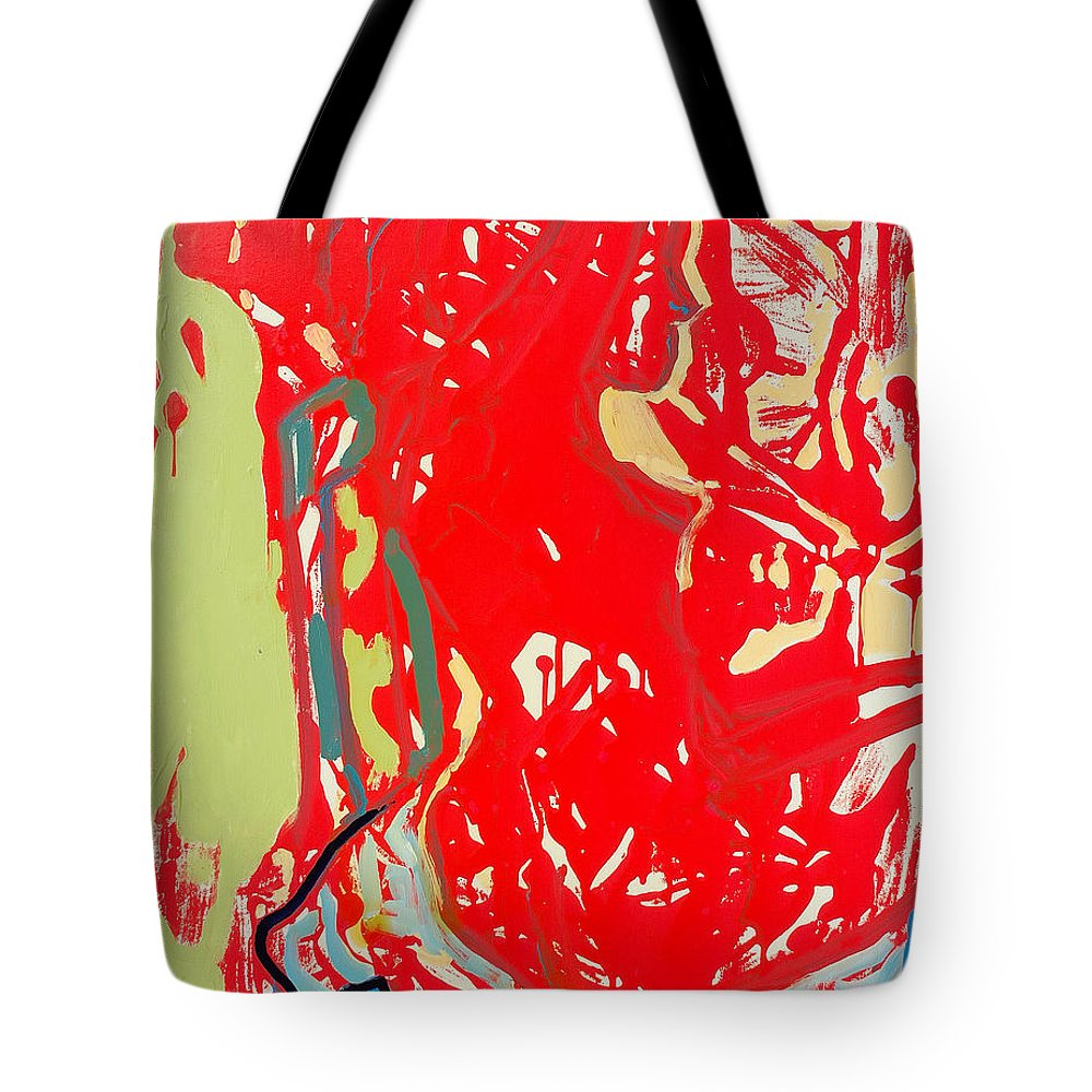 Nude Tote Bag featuring the painting Blue Chair by Kurt Hausmann