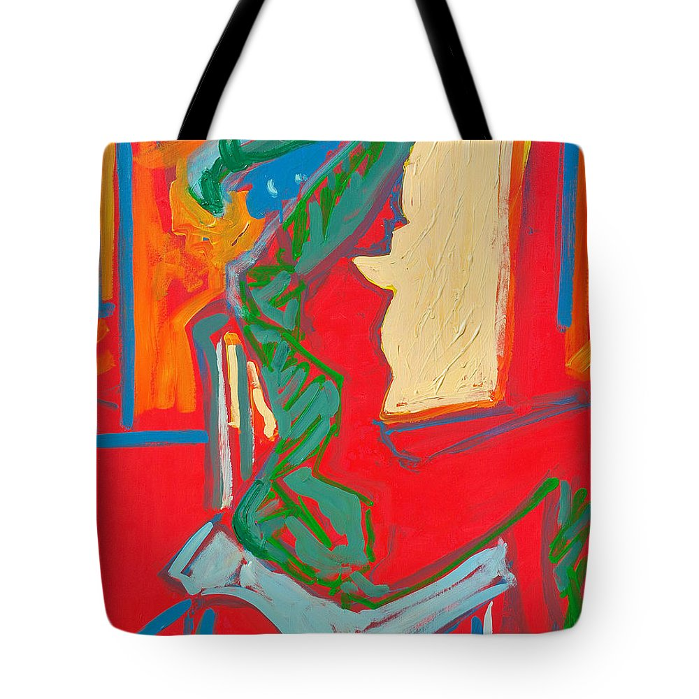 Woman Tote Bag featuring the painting Blue Chair Study by Kurt Hausmann