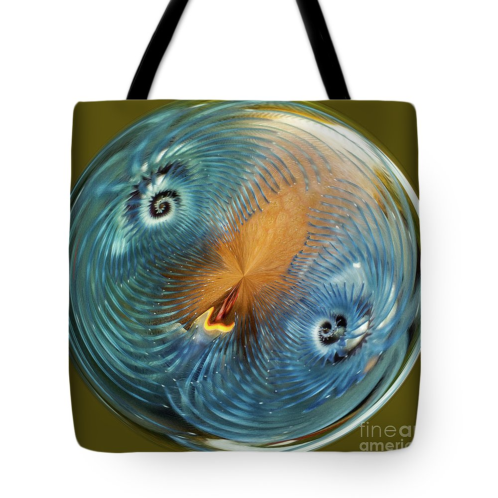 Fiji Tote Bag featuring the digital art Blue Christmas by George Cathcart