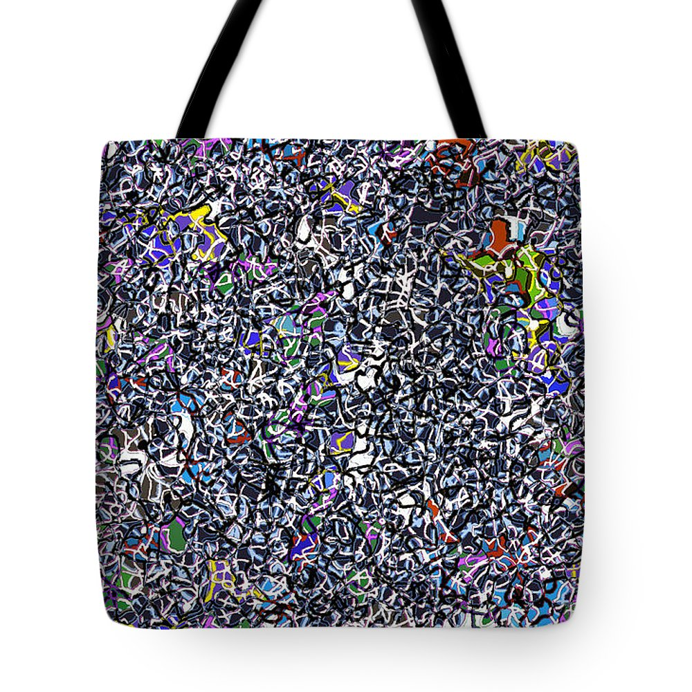 Complex Tote Bag featuring the digital art Blue Complex by Andy Mercer