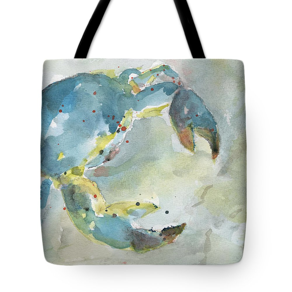Tote Bag featuring the painting Blue Crab. by Christine Munch