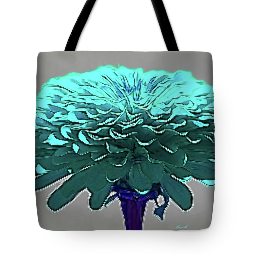 Flower Art Tote Bag featuring the photograph Blue Crown by Dennis Baswell