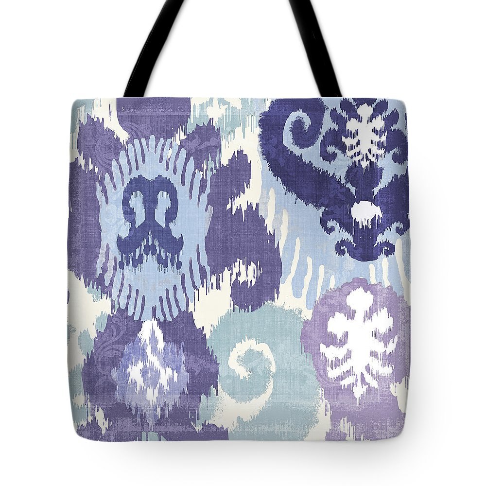 Ikat Tote Bag featuring the painting Blue Curry I by Mindy Sommers