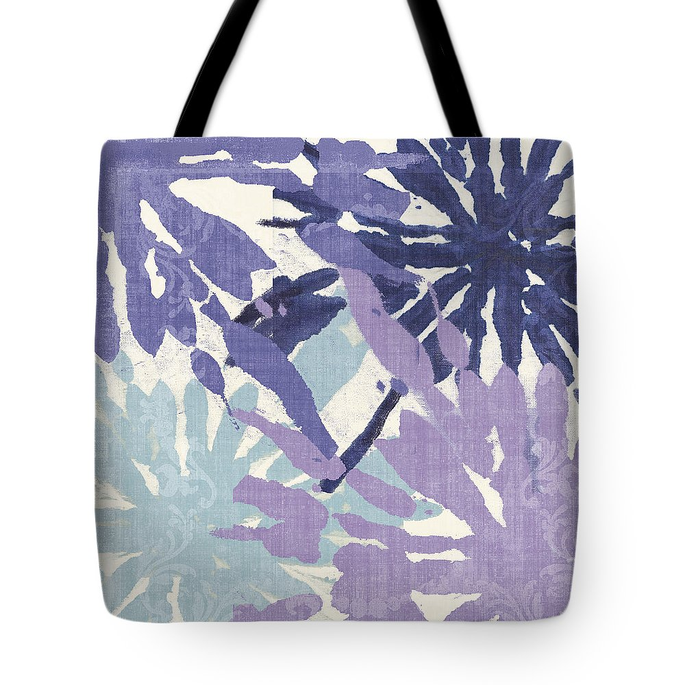 Ikat Tote Bag featuring the painting Blue Curry II by Mindy Sommers