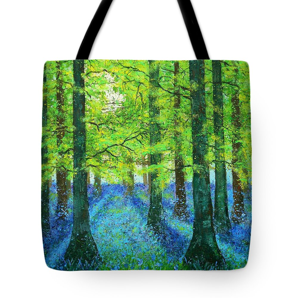 Art Tote Bag featuring the painting Blue Dawn by Angie Wright