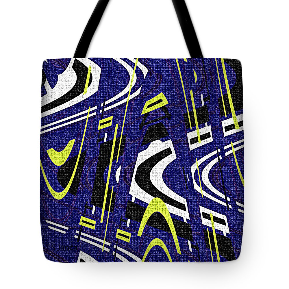 Blue Drawing Abstract Tote Bag featuring the photograph Blue Drawing Abstract by Tom Janca