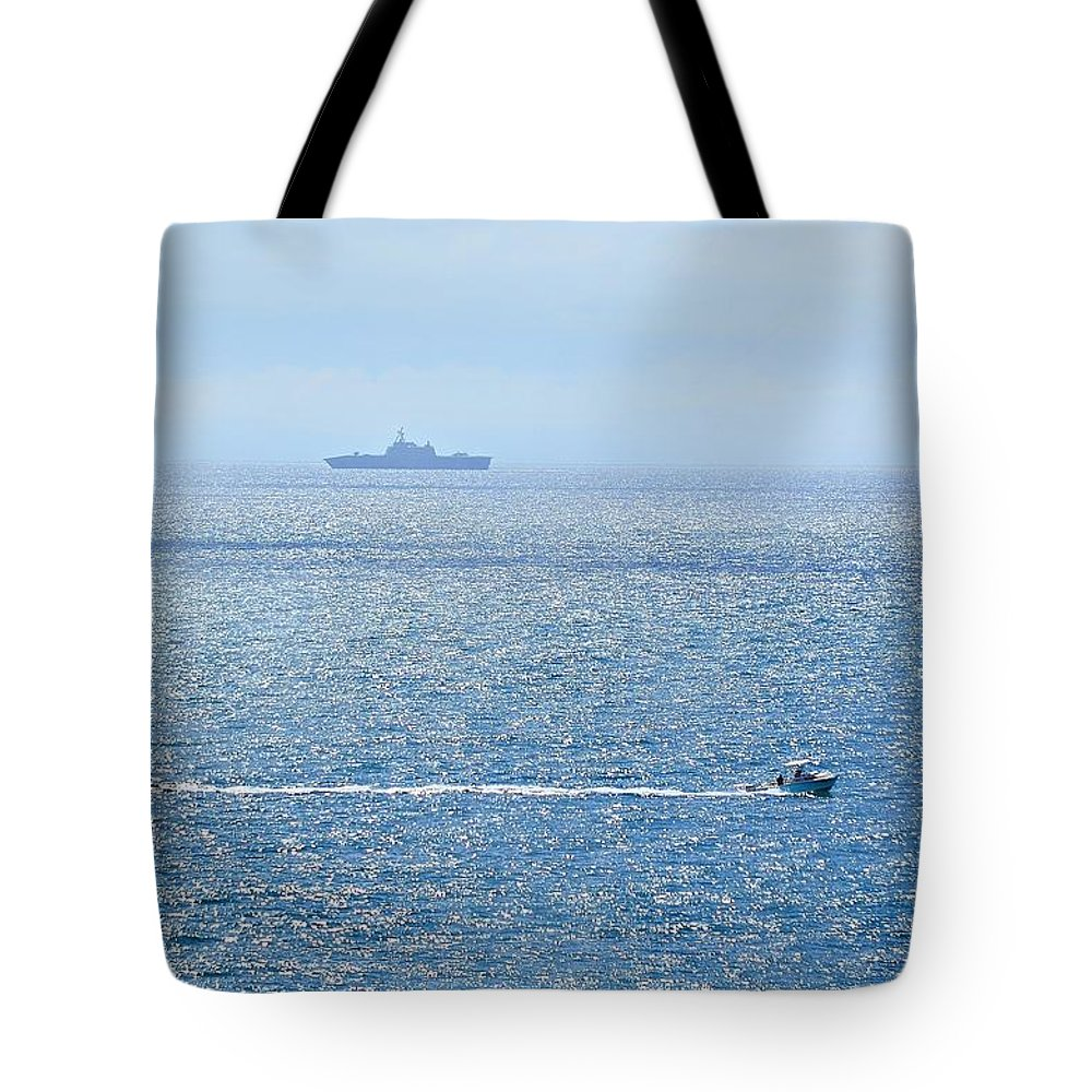 Beach Tote Bag featuring the photograph Blue Dream by Leticia GG