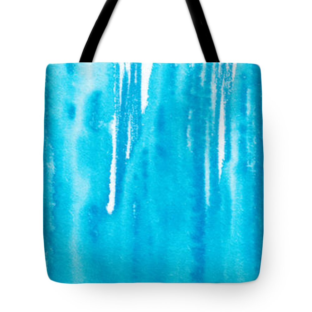 Paint Pen Tote Bag featuring the painting Blue Drip by Tiffini Oman