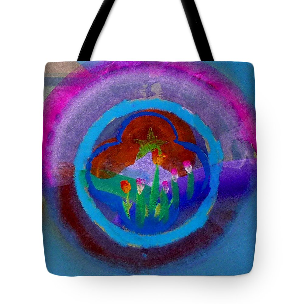 Love Tote Bag featuring the painting Blue Embrace by Charles Stuart
